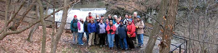 Club hike near Fall Creek, Cornell University campus - Photo: R. Hopkins