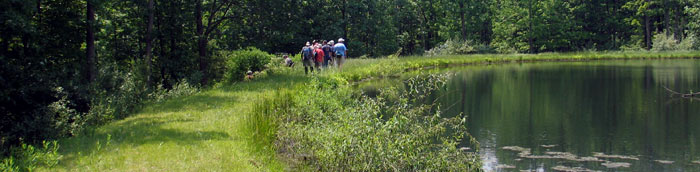 Walk, Look, and Learn hike at Steege Hill Preserve of the Finger Lakes Land Trust - June, 2008 - Photo: R. Hopkins