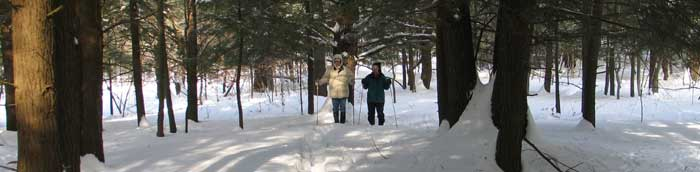 Snowshoeing near Cascadilla Creek - Photo: R. Hopkins